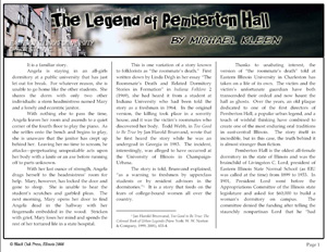The Legend of Pemberton Hall by Michael Kleen