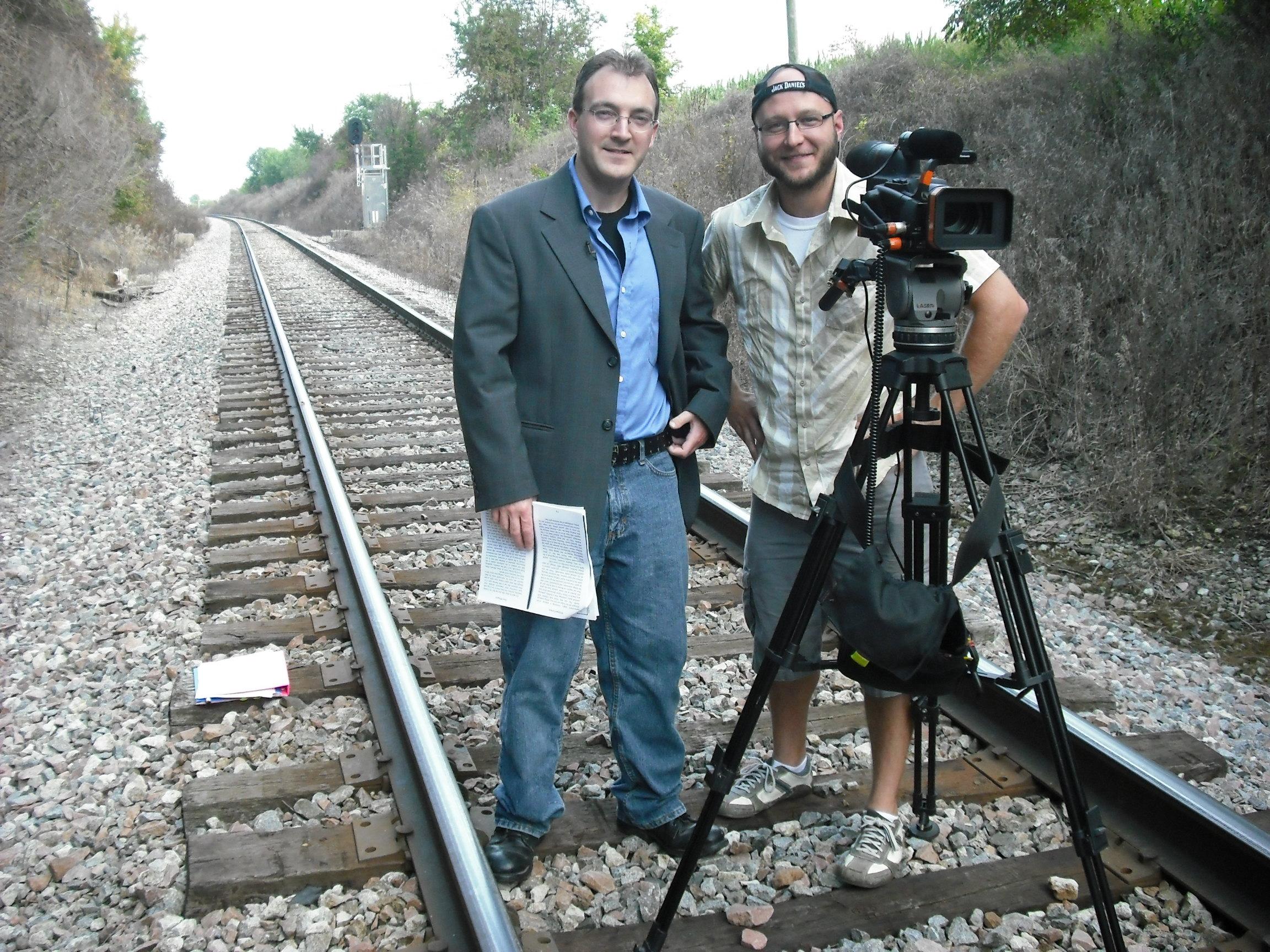 The cameraman, Josh Tallo, and I