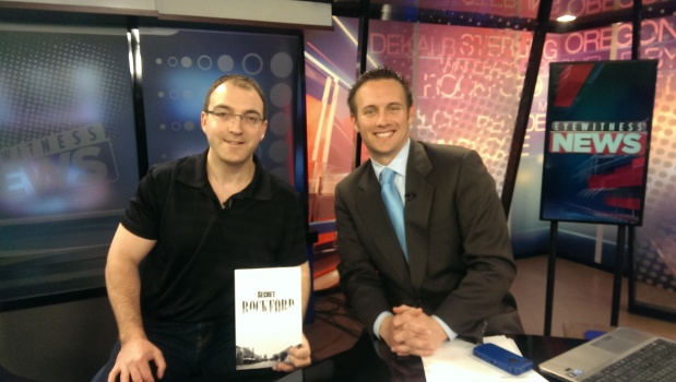 Matt Rodewald and I on WTVO Channel 17 morning news, Tuesday February 11