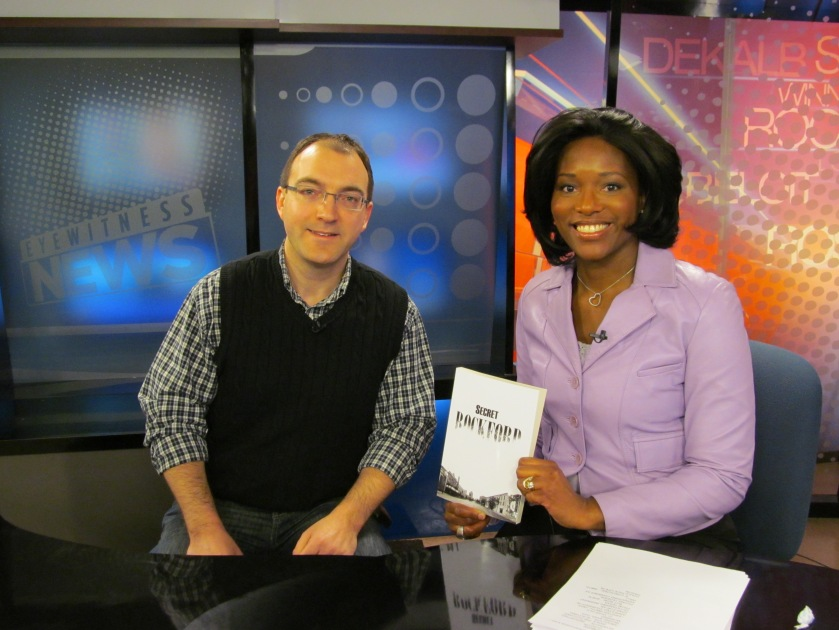 Talking about Secret Rockford with Evelyn Wilkerson on the FOX 39 morning show, February 10