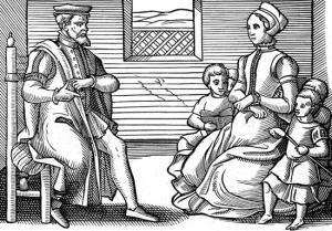 A Puritan family.