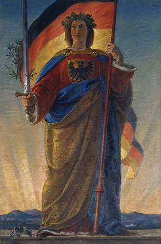 Nationalist depiction of Germania, 1848–49