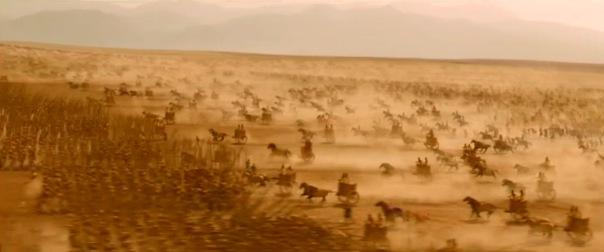 Greek and Macedonian phalanx repels heavy chariots.