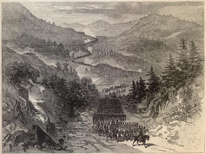 General Burnside's Army Occupying the Cumberland Gap Harper's Weekly, October 10, 1863,