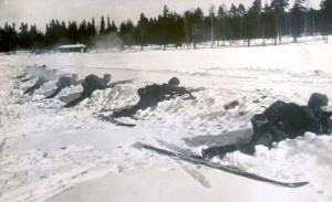Swedish ski soldiers, c. 1940