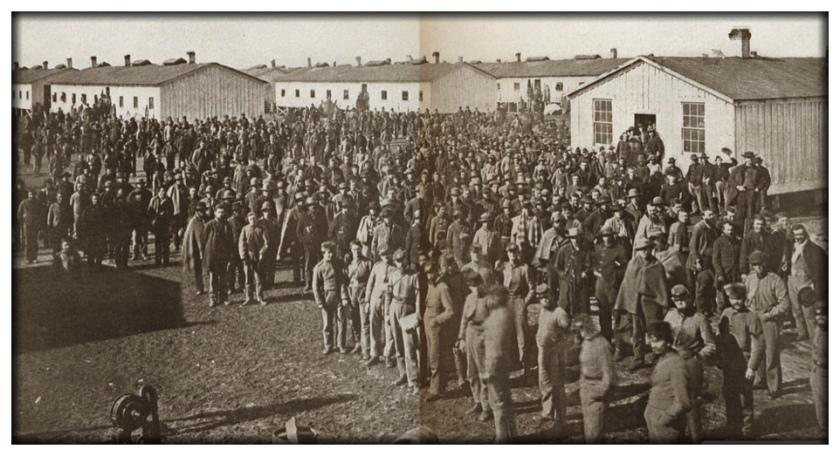 Confederate prisoners of war in Camp Douglas