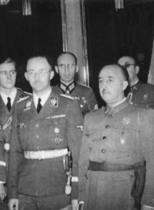 Franco meets with Heinrich Himmler in 1940.