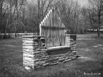 Archer Woods Cemetery in Justice, Illinois. Photo by Michael Keen