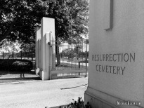Resurrection Cemetery in Justice, Illinois. Photo by Michael Kleen