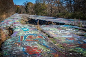 Graffiti Highway outside Centralia, Pennsylvania. Photo by Michael Kleen