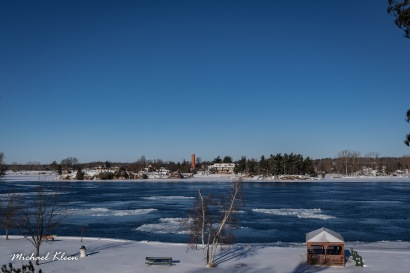 St. Lawrence River in winter. Photo by Michael Kleen