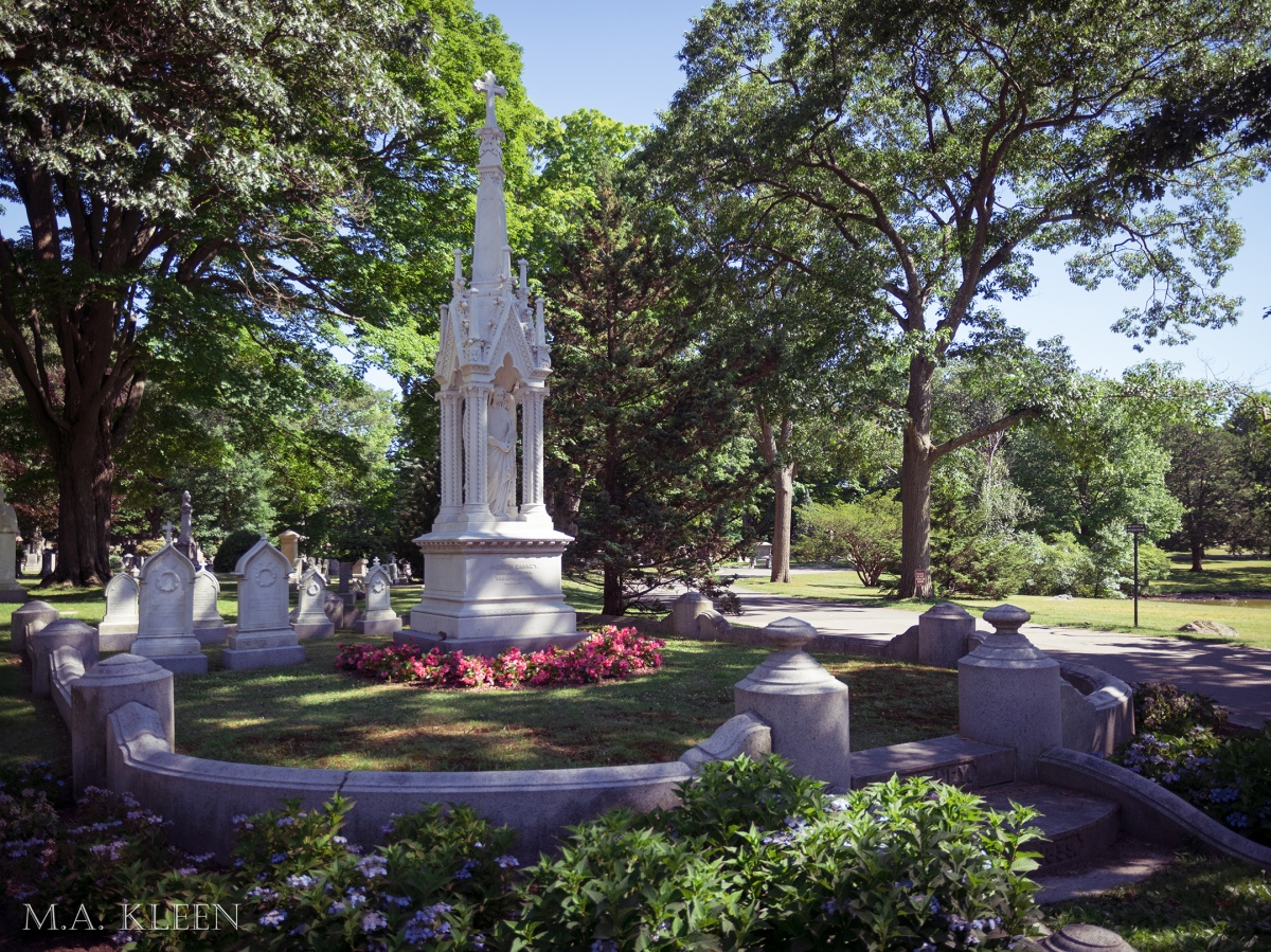Forest Hills Cemetery in Boston, Massachusetts