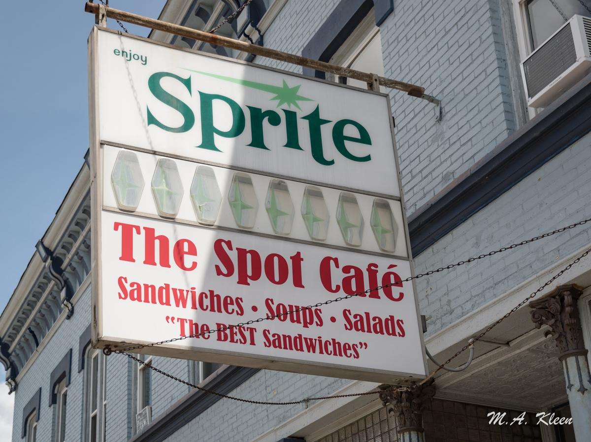 Spot Cafe Vintage SpriteSign