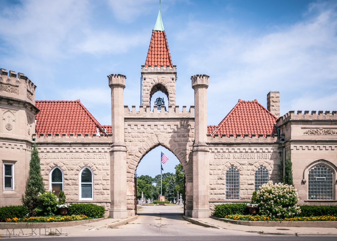 Bohemian National Cemetery in Chicago, Illinois