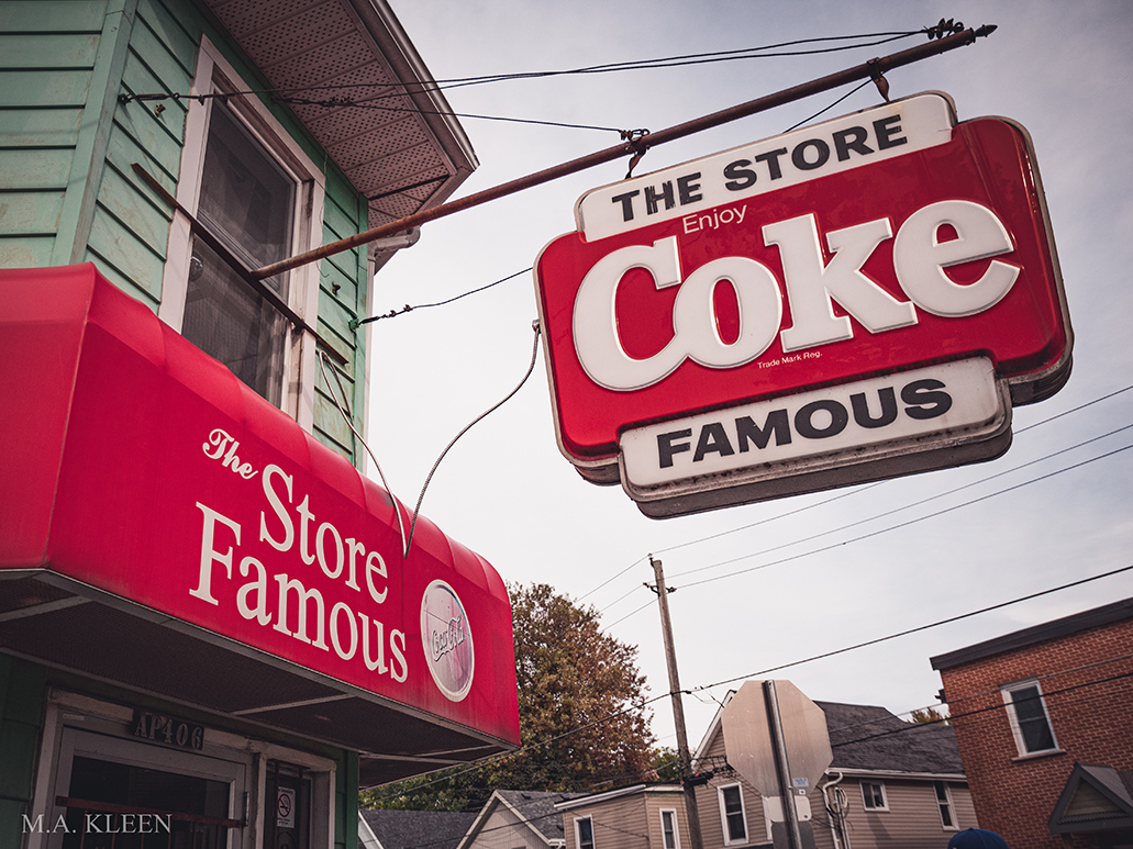The Store Famous Coke Sign