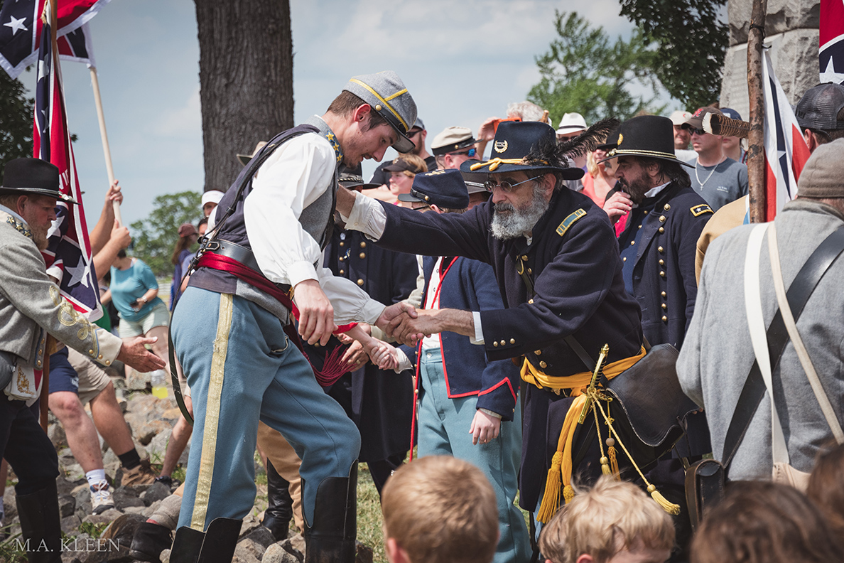 History Enthusiasts Commemorate 'High Water Mark' at Gettysburg