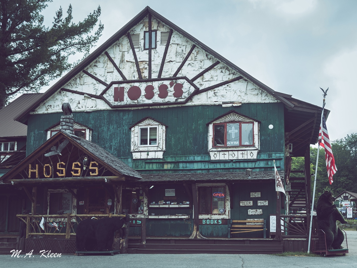 Hoss's Country Corner, at 1142 Main Street in Long Lake, New York, has been a vacationer's destination in the Adirondack Mountains for over forty years.