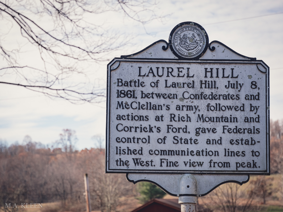 Laurel Hill Battlefield in Belington, West Virginia