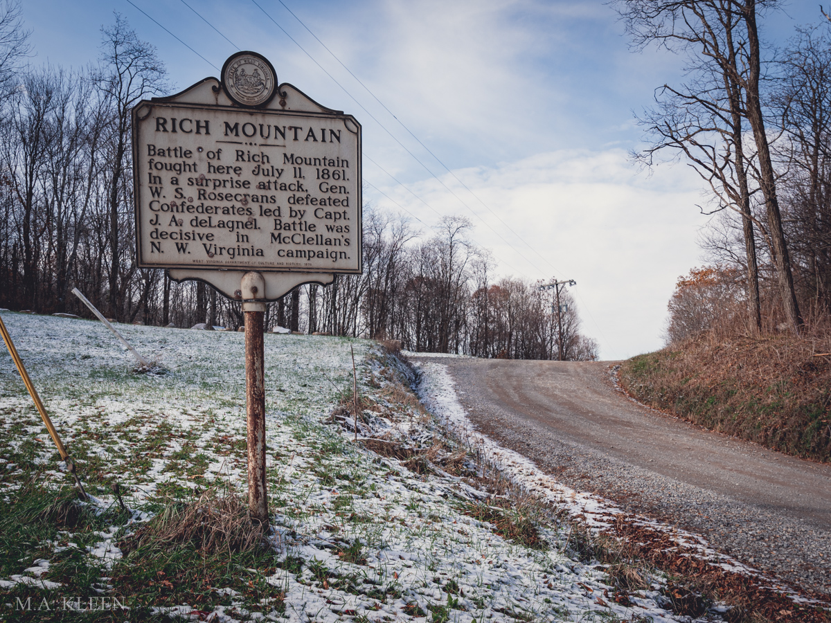 Rich Mountain Battlefield in Randolph County, West Virginia
