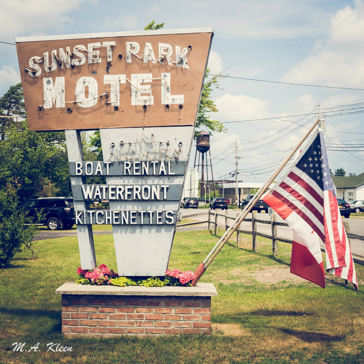 The Sunset Park Motel, at 71 Demars Blvd in Tupper Lake, New York, is a classic motor inn catering to vacationing families in the Adirondacks.