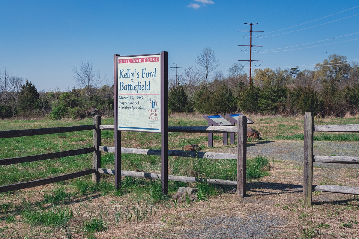 Kelly's Ford Battlefield in Culpeper County,Virginia