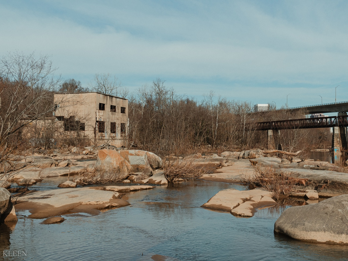 Belle Isle in the James River in downtown Richmond, Virginia.