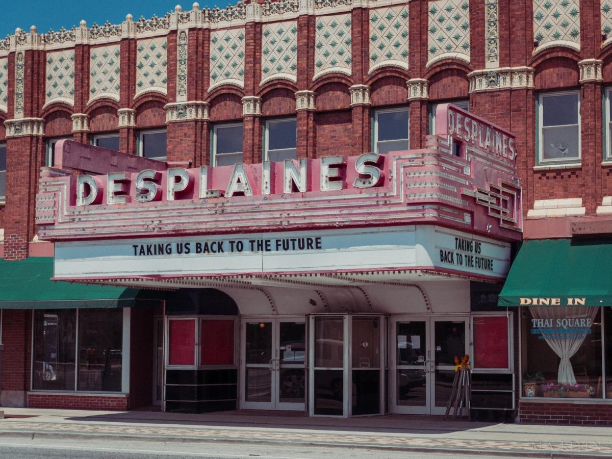 The Des Plaines Theatre, 1476 Miner Street (U.S. Route 14) in Des Plaines, Illinois