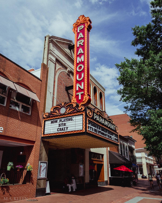 The Paramount Theater, 215 E Main Street in Charlottesville, Virginia.