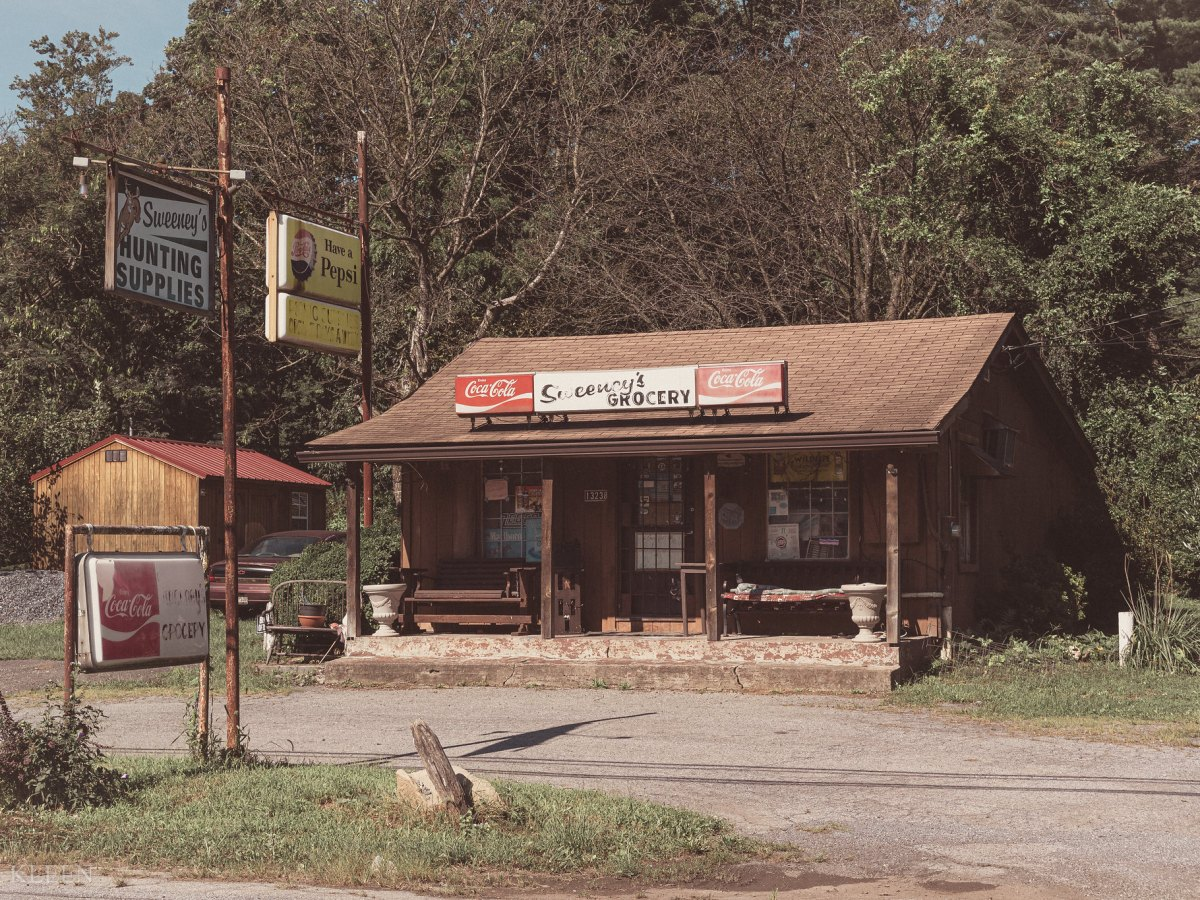 Sweeney's Grocery and Hunting Supplies Store, 13238 Catoctin Furnace Road outside Thurmont, Maryland.