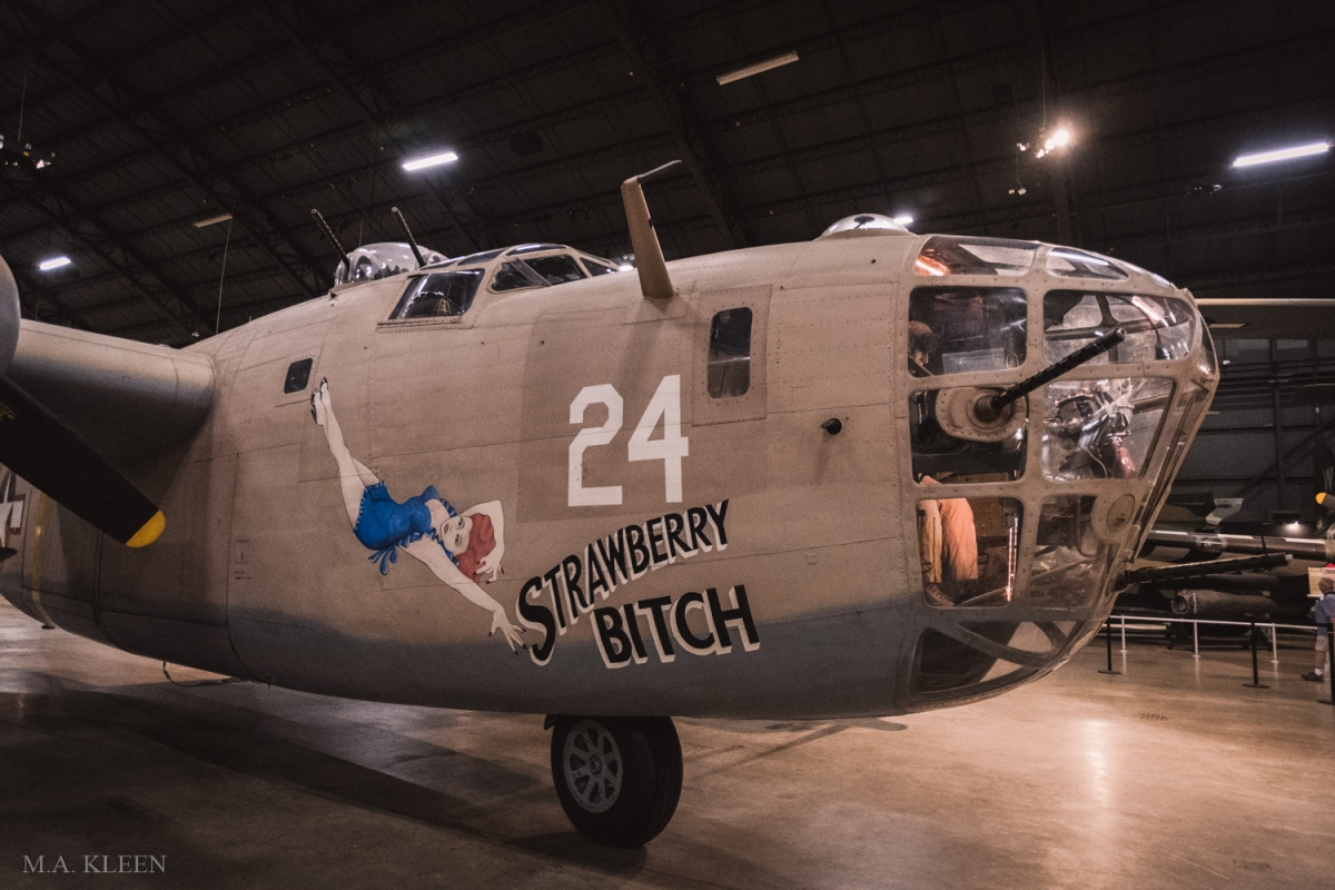 """Consolidated B-24D Liberator """"Strawberry Bitch"""" at the National Museum of the United States Air Force in Dayton, Ohio."""