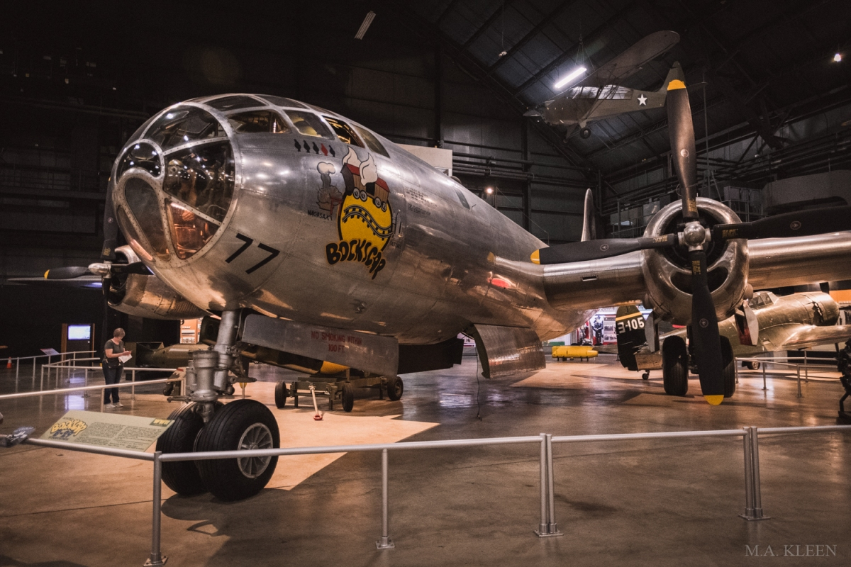 """Boeing B-29 Superfortress """"Bockscar"""" at the National Museum of the United States Air Force in Dayton, Ohio."""