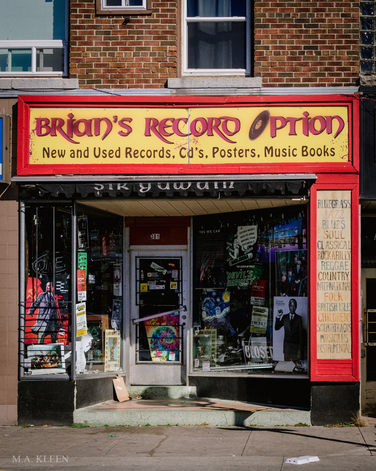 Brians Record Option at 381 Princess Street in Kingston, Ontario, Canada.