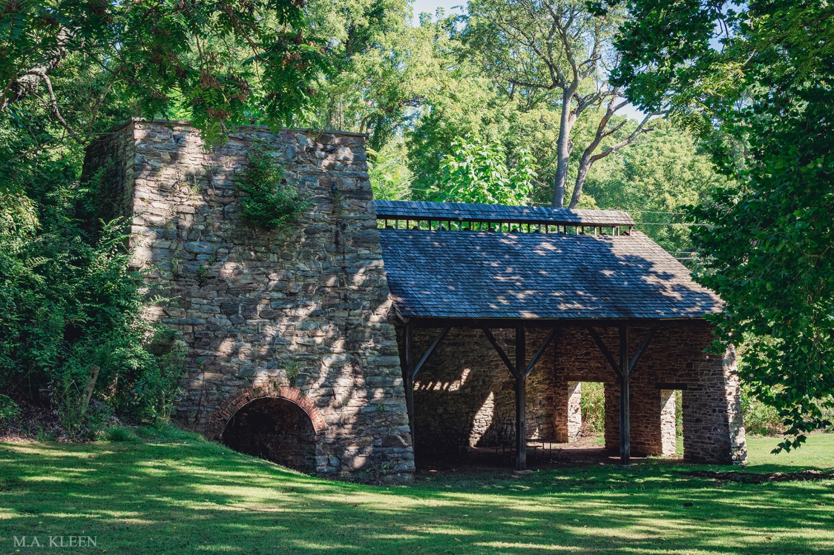 Catoctin Iron Furnace, 12698 Catoctin Furnace Road (U.S. Route 15) in Cunningham Falls State Park in Thurmont, Frederick County, Maryland.