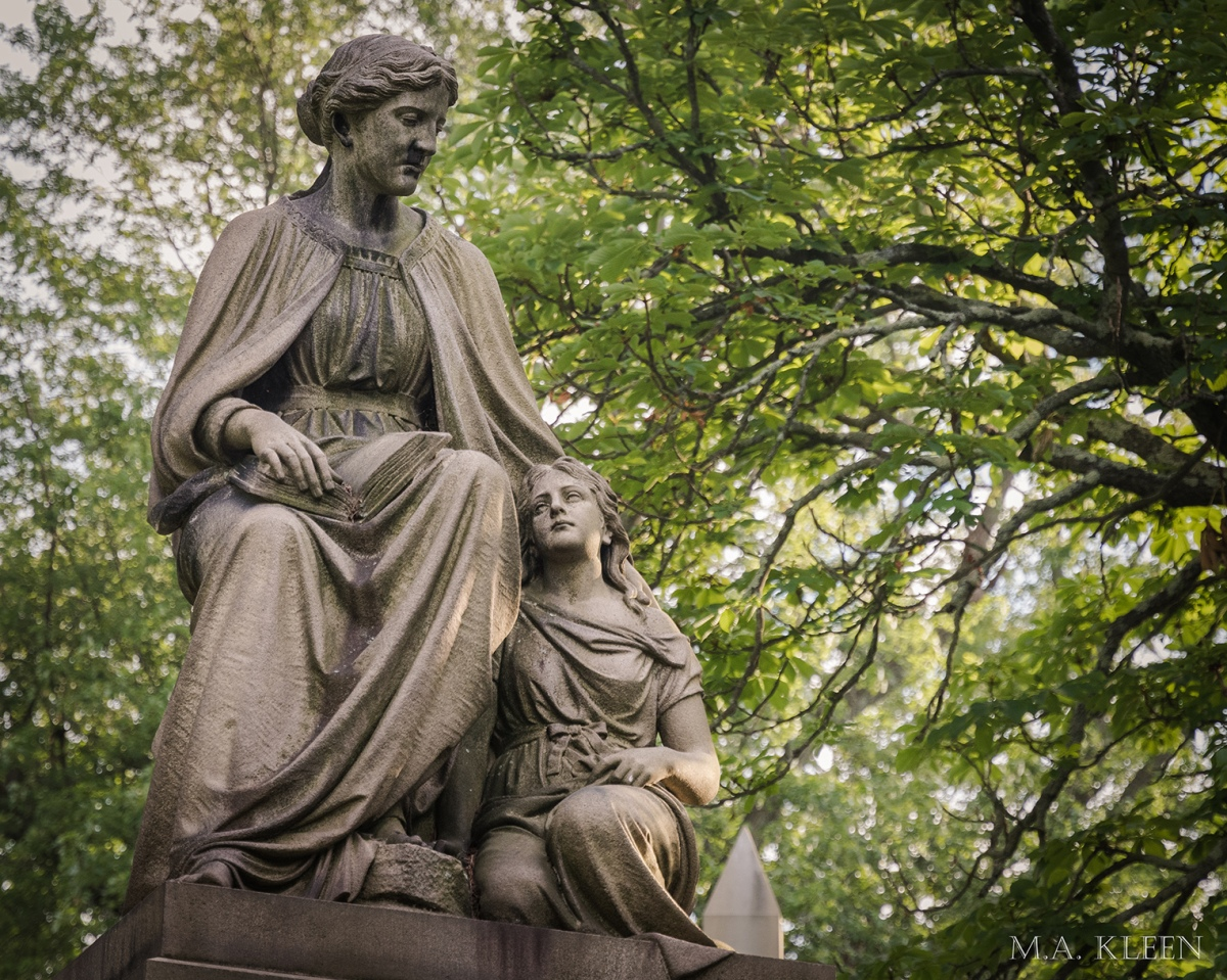 Monument to Florence C. Roberts Skinner (1857-1904), wife of William C. Skinner (1855–1922) in Cedar Hill Cemetery, 453 Fairfield Avenue in Hartford, Connecticut.