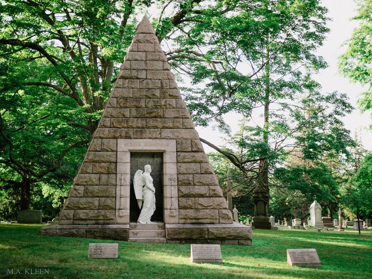 Howard Pyramid Mausoleum in Cedar Hill Cemetery, 453 Fairfield Avenue in Hartford, Connecticut.