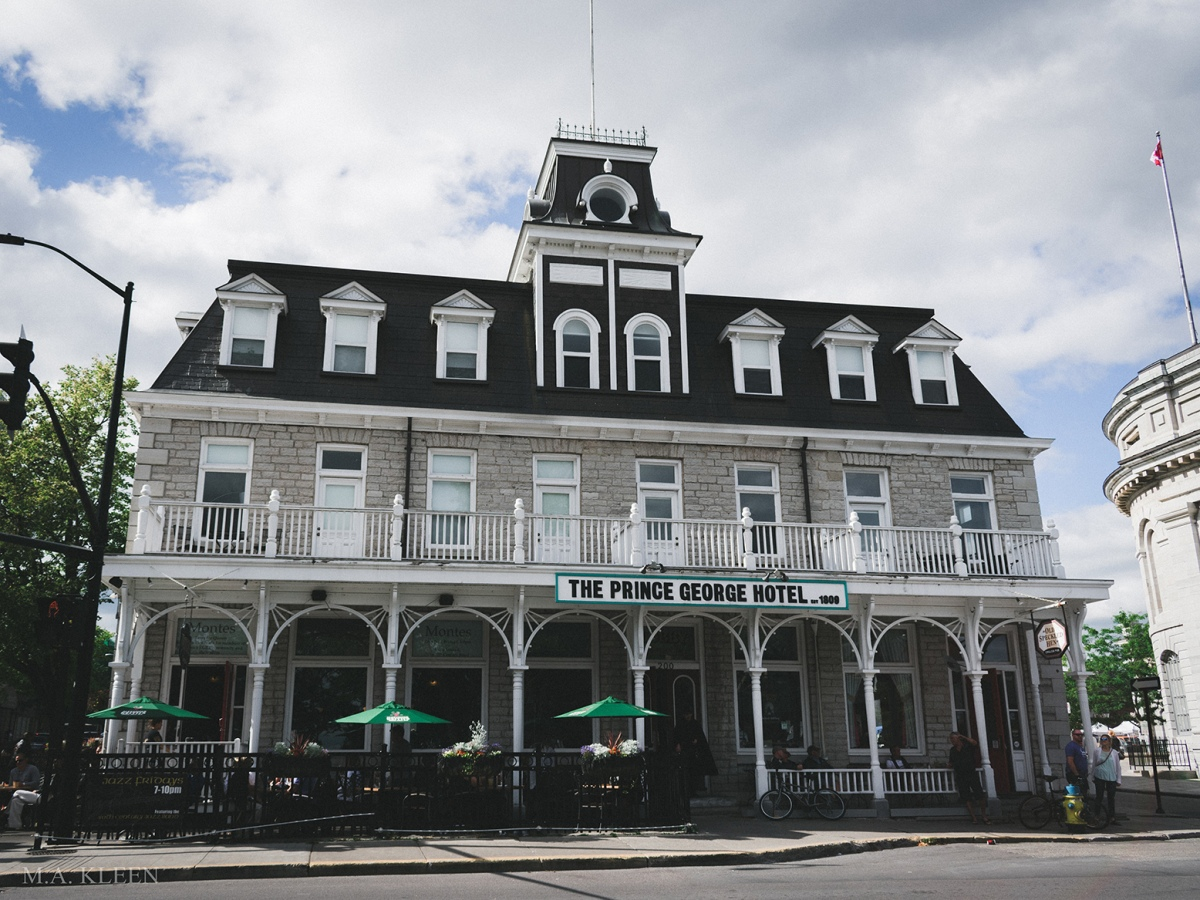 Prince George Hotel at 200 Ontario Street in Kingston, Ontario, Canada