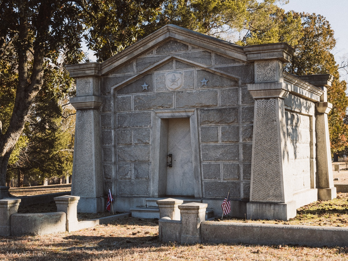 Mausoleum for Maj. Gen. William Mahone (1826-1895) in Blandford Cemetery, 319 South Crater Road in Petersburg, Virginia.